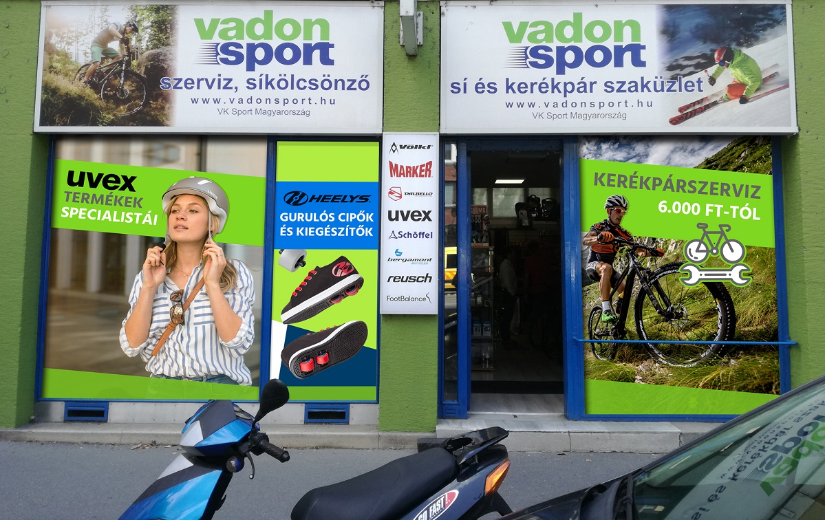 Sport webshop marketing - Vadon Sport kirakatmatrica
