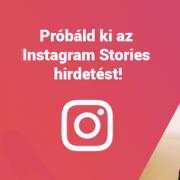 Instagram stories hirdetés