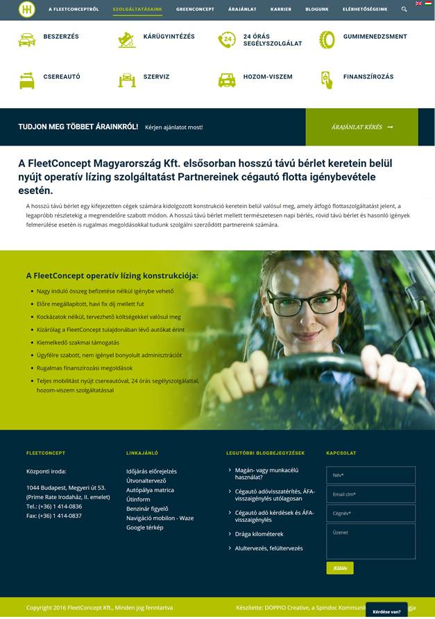 FleetConcept Magyarország wordpress weboldal készítés