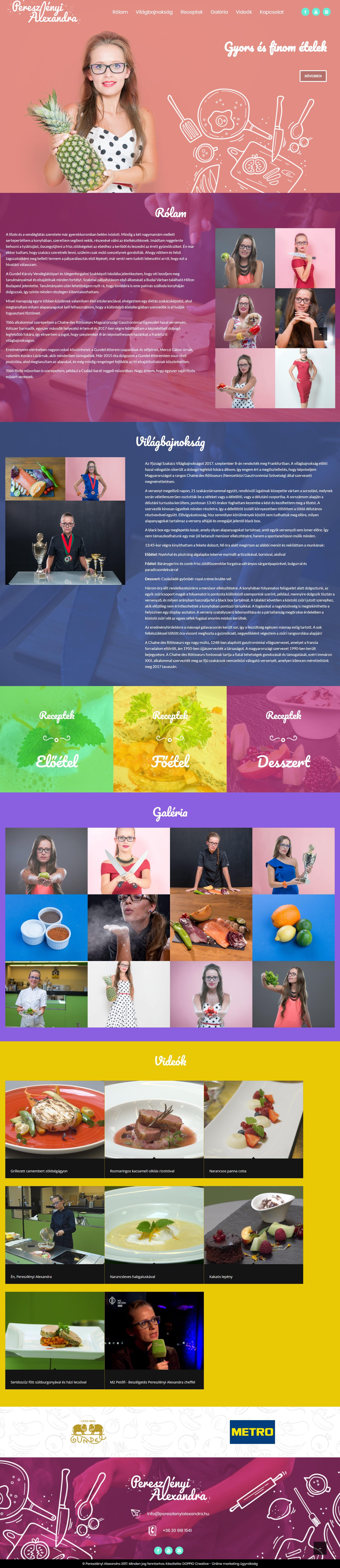 Pereszlényi Alexandra wordpress weboldal készítés