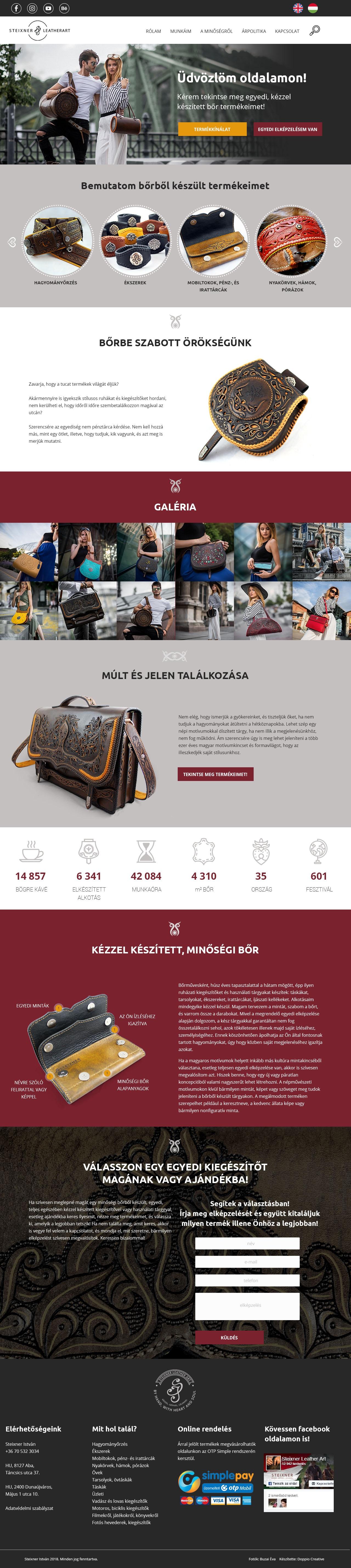 Steixner Leather wordpress weboldal készítés