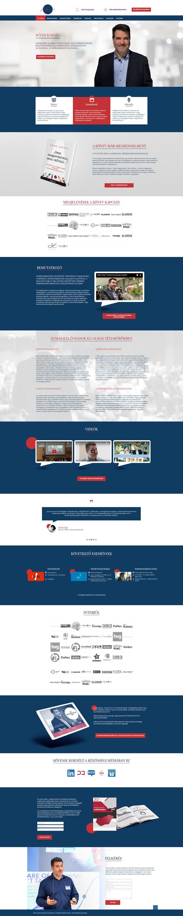 Bőhm Kornél kríziskommunikációs szakértő wordpress weboldal készítés