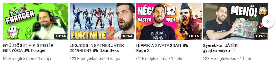 Youtube index képek
