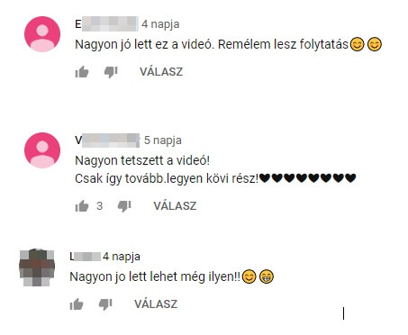 youtube kommentek