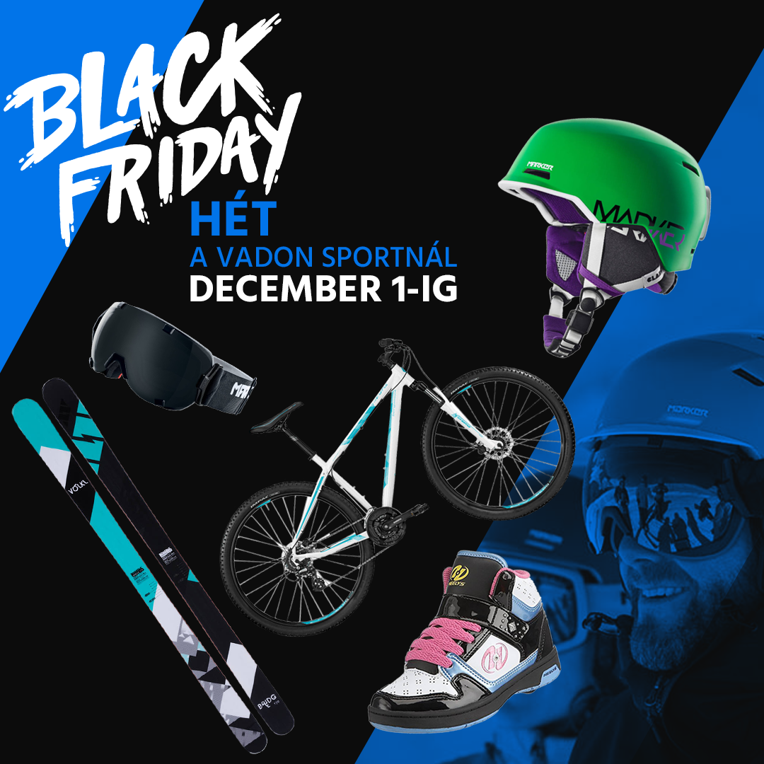 Webshop marketing - Vadon Sport Black Friday Facebook banner